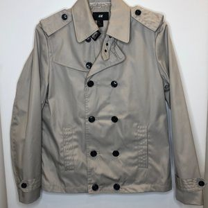 NWOT H&M double breasted jacket US 40R bone color